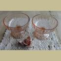 Franse roze glazen ijscoupes, Arcoroc