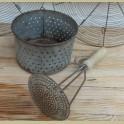 Franse brocante puree stamper met houten handvat