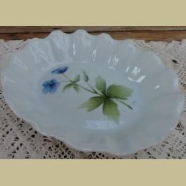 Franse brocante zeepschaal met blauwe bloemen, Limoges