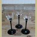 Franse wijnglazen met zwarte voet, Luminarc, groot