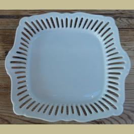 Opengewerkte wit porseleinen schaal, Egertal Porzellan