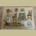 Vintage houten Simplex puzzel, Sarah Kay