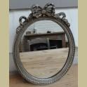 Brocante zilverkleurige spiegel met strik