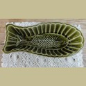 Vintage groene puddingvorm vis