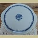 Vintage taartschaal blauwe bloemen, Petrus Regout / Royal Sphinx