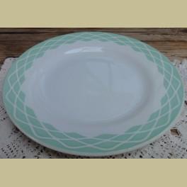 Frans diner bord, LOLA Sarreguemines Digoin, mint groen