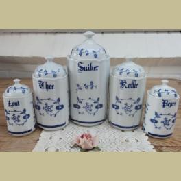 Set van 5 Saks voorraad potten