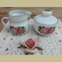 Retro roomstelletje met roze rozen, Winterling