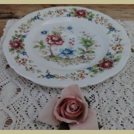 Frans ontbijtbordjes met bloemen, Sarreguemines EDEN