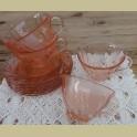 Franse roze kop en schotels , Vereco