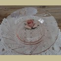 Franse roze glazen soep borden , Vereco