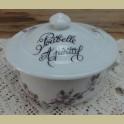 Kleine Franse wit porseleinen Poubelle Apéritif, roze bloesem
