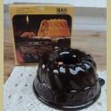 Vintage bruine keramieke tulband, Bay Keramik