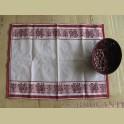 Landelijke boeren thee (doek) rood, wit