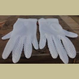 Franse brocante kinder handschoentjes met ribbeltjes