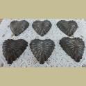 Oude brocante bakvormpjes hart met gaatje