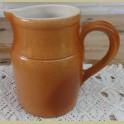 Franse oranje/ bruine gres kan , Gres Pots Digoin, 3/4 liter