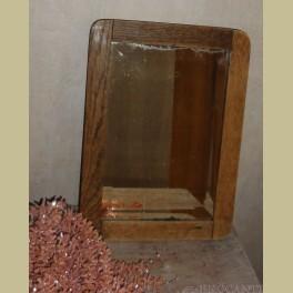 Oude brocante verweerd spiegeltje