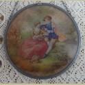 Barok raamhanger met romantisch stel, Fragonard