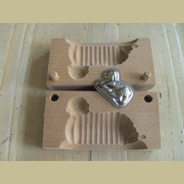 Brocante houten boterlam