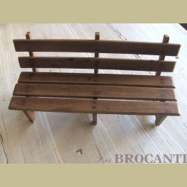 Brocante houten poppen bankje